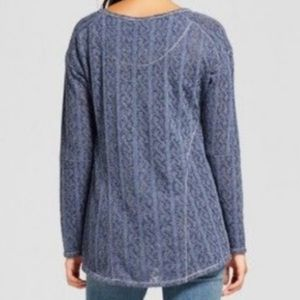 Knox Rose Sweaters - Knox Rose Navy Blue Sparkle Sweater Size S
